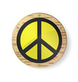sign pacifist peace symbol black hippie sign in vector image