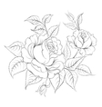 Single black rose ink painted vector image