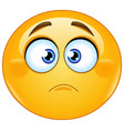 slightly frowning emoticon vector image vector image