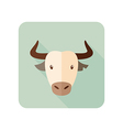 Spanish bull buffalo flat icon Animal head vector image vector image