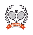 tennis championship rackets ball label graphic vector image