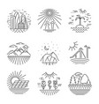 Urban and nature scenes icons