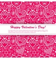 Valentines day lacy paper heart greeting card vector image vector image