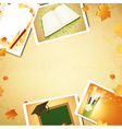 vintage education background vector image vector image