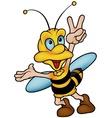Wasp Gesturing Victory vector image vector image