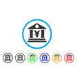 yen bank building rounded icon vector image