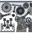 car engine mechanism automobile motor vector image