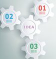 Color Gears Infographics Number Options Banner vector image
