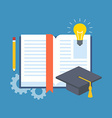 Education learning studying concept Flat design vector image
