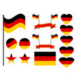 germany flag set collection of symbols flag vector image