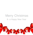 Merry Christmas card with gift boxes vector image