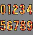 Polygon 0-9 Number Design vector image