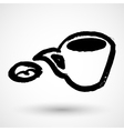 Speech bubble coffee icon grunge concept vector image