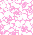 Abstract pink and white hibiscus floral seamless vector image vector image