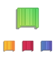 Bar code sign Colorfull applique icons set vector image