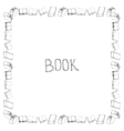 Book doodle frame vector image vector image