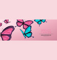 breast cancer awareness banner pink butterfly