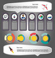 Business elements infographic with icons charts an vector image vector image
