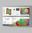 business templates for tri fold square brochures vector image