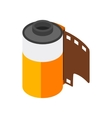 Camera film roll icon isometric 3d style vector image vector image