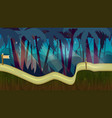 cartoon jungle landscape unending vector image vector image