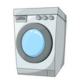 cartoon washing machine design isolated on white vector image vector image