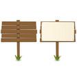 cartoon wood board vector image vector image