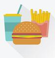 cola a hamburger french fries junk food vector image vector image
