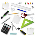 collection of office different design elemets vector image