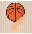 colored basketball icon vector image vector image