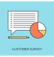 Customer Survey vector image vector image