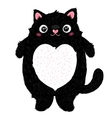 Cute fat cat character vector image vector image
