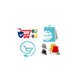 discount shopping set vector image vector image
