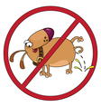 dog stop vector image vector image