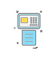 fax icon design vector image
