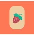 flat icon on stylish background poker Strawberry vector image