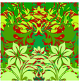 flowers on green background vector image vector image