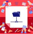 folder sharing icon vector image