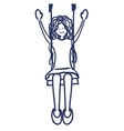girl swinging drawing isolated icon vector image vector image