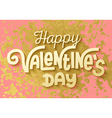 Gold leaf boho chic style happy valentines day vector image vector image