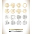 Golden silver mandala set vector image vector image