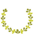 green laurel wreath frame isolated on white vector image