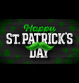 happy saint patricks day feast of saint patrick vector image
