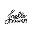 hello autumn - linear logo design isolated vector image