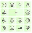 joy icons vector image vector image