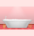 modern bathtub concept background realistic style vector image