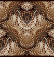 modern floral 3d seamless pattern abstract vector image