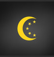 moon and stars in circle moonlight isolated on vector image vector image