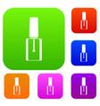 nail polish bottle set collection vector image