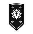 Nice shield icon vector image vector image